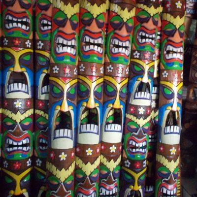 Handmade Albesia Wood Tiki Mask - PLTK-1501 - Wholesale from Bali