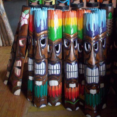 Handmade Albesia Wood Tiki Mask - PLTK-1504 - Wholesale from Bali