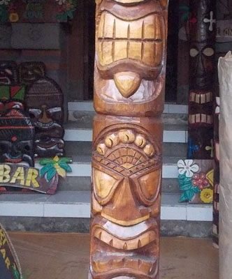Handmade Albesia Wood Tiki Mask - PLTK-1506 - Wholesale from Bali