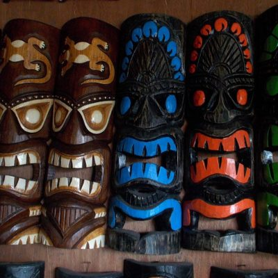Handmade Albesia Wood Tiki Mask - PLTK-1507 - Wholesale from Bali