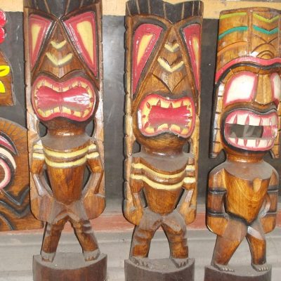 Handmade Albesia Wood Tiki Mask - PLTK-1509 - Wholesale from Bali