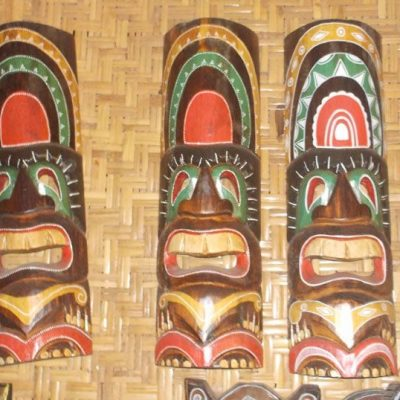 Handmade Albesia Wood Tiki Mask - PLTK-1528 - Wholesale from Bali