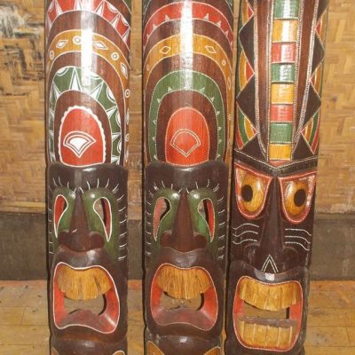 Handmade Albesia Wood Tiki Mask - PLTK-1529 - Wholesale from Bali