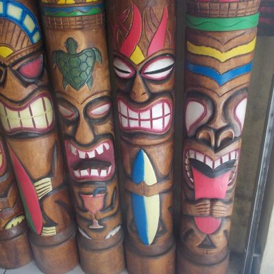 Handmade Albesia Wood Tiki Mask - PLTK-1534 - Wholesale from Bali