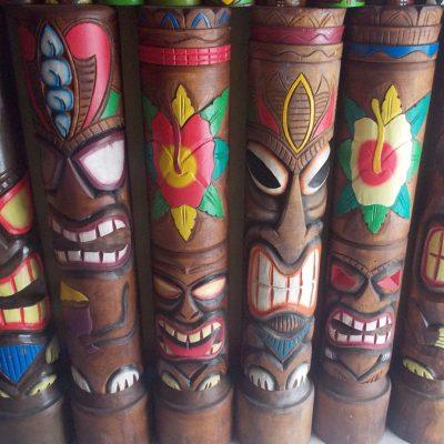 Handmade Albesia Wood Tiki Mask - PLTK-1535 - Wholesale from Bali