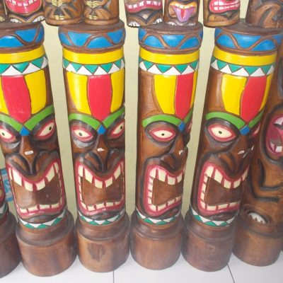 Handmade Albesia Wood Tiki Mask - PLTK-1536 - Wholesale from Bali