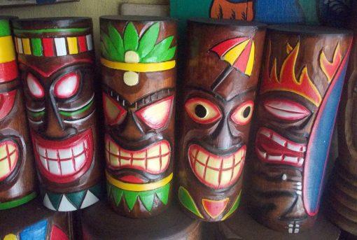 Handmade Albesia Wood Tiki Mask - PLTK-1537 - Wholesale from Bali