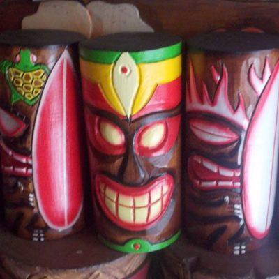 Handmade Albesia Wood Tiki Mask - PLTK-1538 - Wholesale from Bali