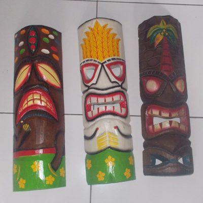 Handmade Albesia Wood Tiki Mask - PLTK-1540 - Wholesale from Bali