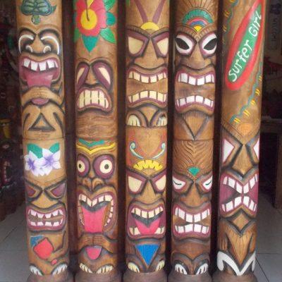 Handmade Albesia Wood Tiki Mask - PLTK-1562 - Wholesale from Bali