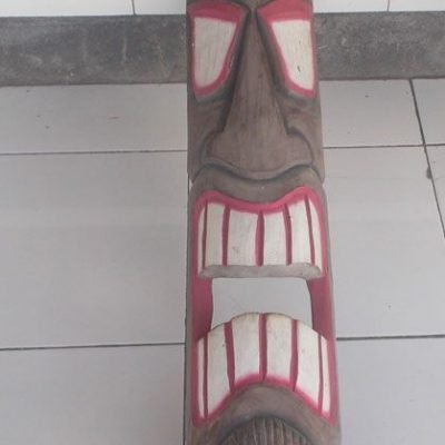 Handmade Albesia Wood Tiki Mask - PLTK-1563 - Wholesale from Bali