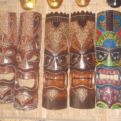 Handmade Albesia Wood Tiki Mask - PLTK-1565 - Wholesale from Bali