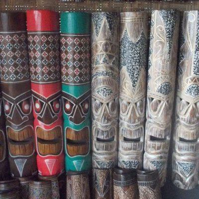 Handmade Albesia Wood Tiki Mask - PLTK-1566 - Wholesale from Bali