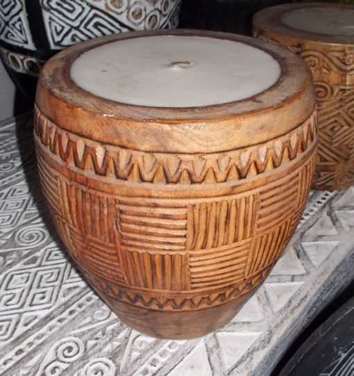 Suar Wood Carved Candle - CANDLE-2944