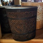 Carved Suar Wood Candle - CANDLE-3606