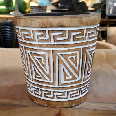 Carved Suar Wood -- no candle - CANDLE-3629