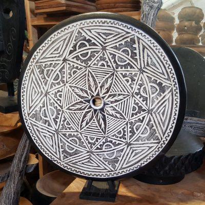 Suar Wood Decoration - CANDLE-3827