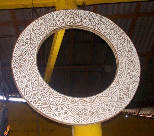 Suar Wood Mirror Frame - MIRROR-2958