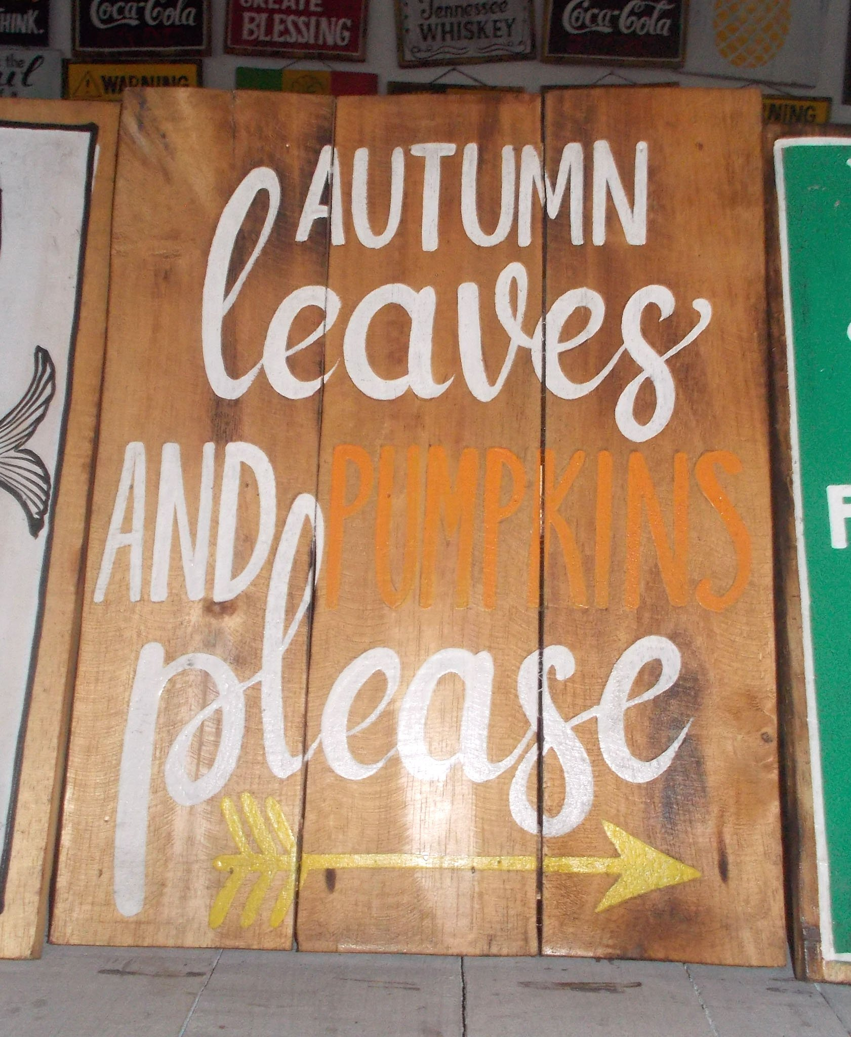 Albesia Wood Sign – SIGN-3009 1