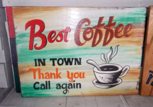 Albesia Wood Sign - SIGN-3011