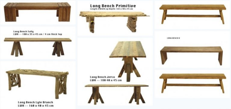Recycled & Rustic Teak Benches