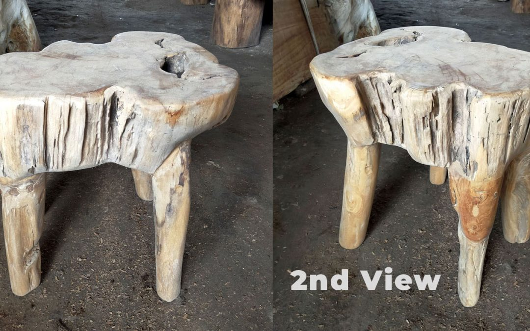 Small Selection Teak Root Bowls, Side Tables & Small Stools