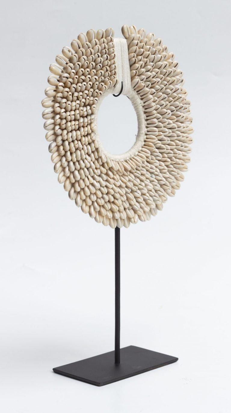 Woven Grass & Shell Decor