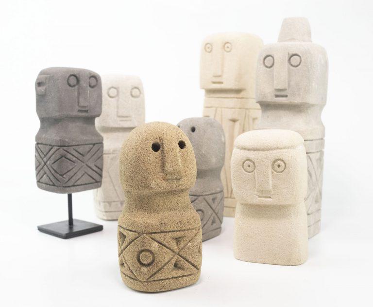Mini Stone Primitive Statues