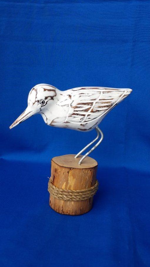Albesia Wood Bird on Stump - MKD-021