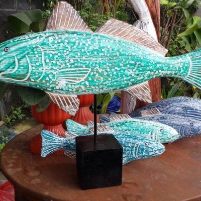 Albesia Wood Fish Decoration - MKD-032