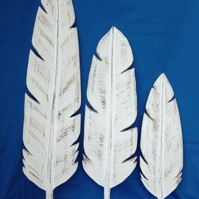 Albesia Wood Decoration -- set of 3 (60/80/100cm) - MKD-040