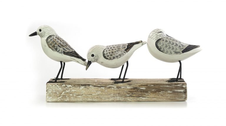Handpainted Wood Birds on Branch